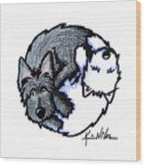 Scottie Westie Yin Yang Wood Print