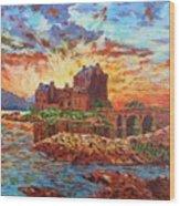 Scottish Castle - Eilean Donan Wood Print