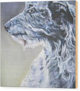 Scottish Deerhound Wood Print by Lee Ann Shepard