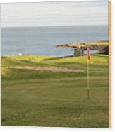 Scottish Golf Wood Print