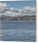 Scottish Panorama Over The River Clyde Wood Print