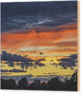 Scottish Sunset Wood Print
