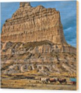 Scotts Bluff National Monument Wood Print