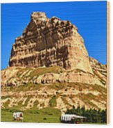 Scotts Bluff National Monument Panorama Wood Print