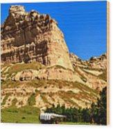 Scotts Bluff National Panoramic Landscape Wood Print