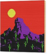 Scottsdale Mountain Wood Print