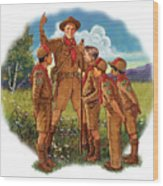 Scoutmaster Wood Print