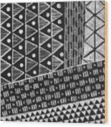Scratchboard Kapa Pattern 1 Wood Print