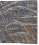 Scratched Metal Wood Print