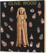 Scream Olive Wood Wood Print by Eric Kempson