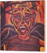 Screaming Demon Wood Print
