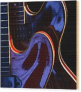 Screaming Guitars Wood Print
