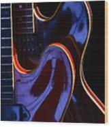 Screaming Guitars Wood Print