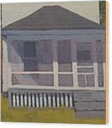 Screened Porch - Art By Bill Tomsa Wood Print