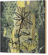 Scribble me a bouquet Wood Print