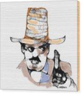 Scribbler Cowboy Wood Print