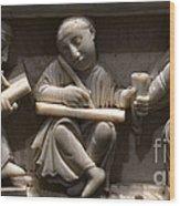Scribes, 10th Century Wood Print