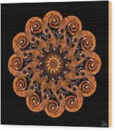 Scroll Flower Wood Print