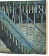 Scrolled Staircase By H H Photography Of Florida Wood Print