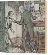 Scrooge And Bob Cratchit Wood Print