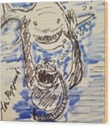 Scuba Diving With Sharks Wood Print