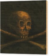 Scull And Crossbones Wood Print