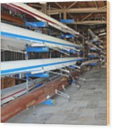 Sculling Shells On Racks Wood Print
