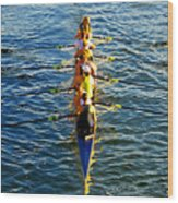 Sculling Women Wood Print