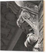 Sculpted Balcony Bracket Budapest Wood Print
