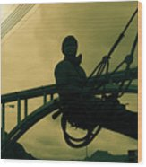 Sculpture - Hoover Dam Construction Worker Wood Print