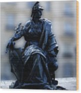 Sculpture In Front Of Orsay Museum Paris France Wood Print