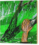 Sculptured Falling Tree Wood Print
