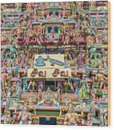 sculptures on Arulmigu Kapaleeswarar Temple, Chennai, Tamil Nadu Wood Print