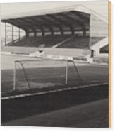 Scunthorpe United - Old Showground - East Stand 1 - Bw - 1960s Wood Print