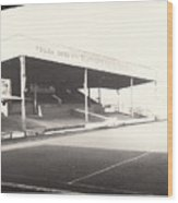 Scunthorpe United - Old Showground - Main Stand 1 - Bw - 1960s Wood Print