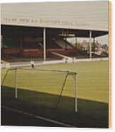 Scunthorpe United - Old Showground - Main Stand 2 - 1970s Wood Print