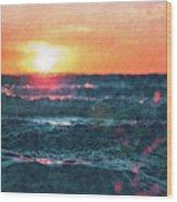 Sea And Sun Wood Print