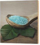 Sea Bath Salt Wood Print