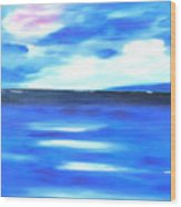 Sea Blue Sky Wood Print