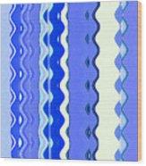Sea Blue Wave Tapestry Wood Print