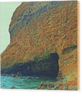 Sea Cave Wood Print