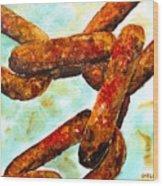 Sea Chain Wood Print