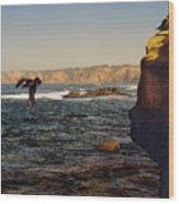 Sea Cliff Wood Print