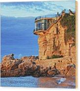 Sea Coast Sunrise At Balcon De Europa In Nerja Wood Print