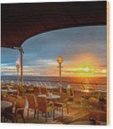 Sea Cruise Sunrise Wood Print