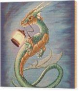 Sea Dragon And Lantern Wood Print