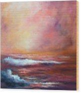 Sea Dusk Wood Print