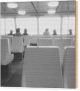 Sea Ferry Ride  Wood Print