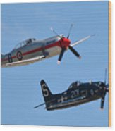 Sea Fury And Bearcat Wood Print