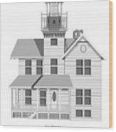 Sea Girt New Jersey Architectural Drawing Wood Print